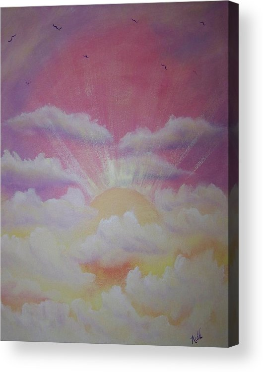 Bird Acrylic Print featuring the painting The Ascension by Laurie Kidd