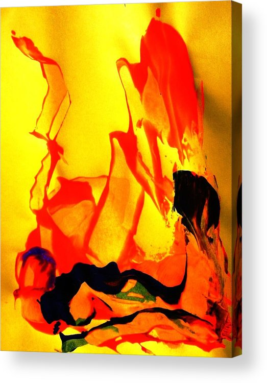 Abstract Acrylic Print featuring the painting A Hot Time by Bruce Combs - REACH BEYOND