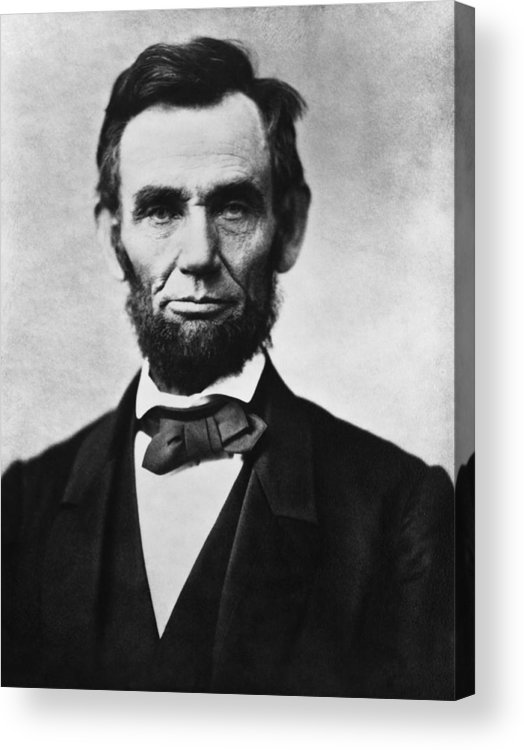 Abraham Lincoln Acrylic Print featuring the photograph Abraham Lincoln by War Is Hell Store