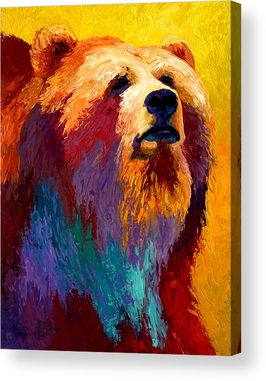 Western Acrylic Print featuring the painting Abstract Grizz by Marion Rose
