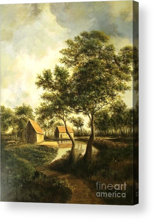 Canvas Print Landscape Acrylic Print featuring the painting After The Storm by Madeleine Holzberg