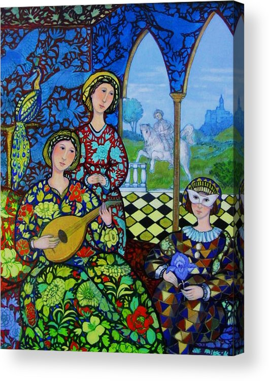 Medieval Acrylic Print featuring the painting Afternoon In Blue by Marilene Sawaf