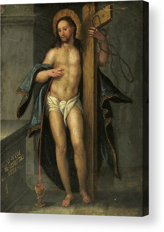 Religion Acrylic Print featuring the painting Alegoria De La Redencion De Cristo by Unknown