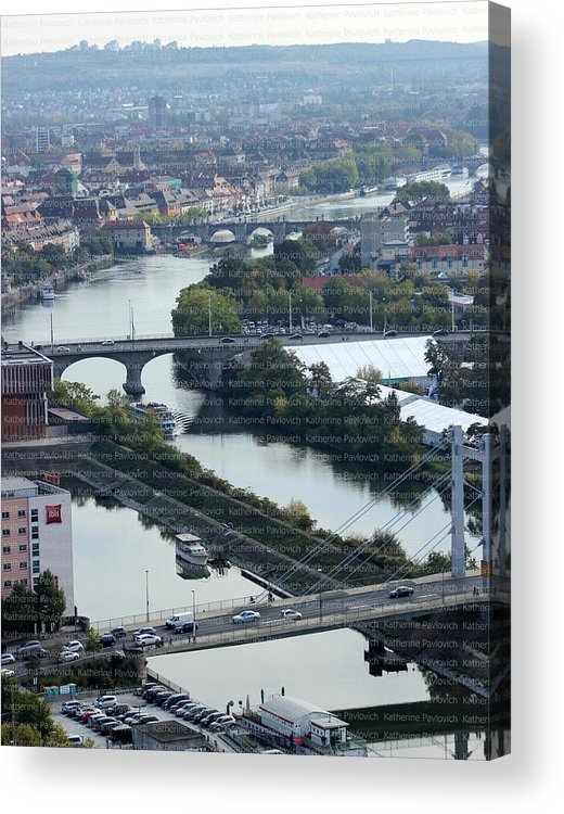 Cityscapes Acrylic Print featuring the photograph Alte Mainbruecke by Kate Pavlovich