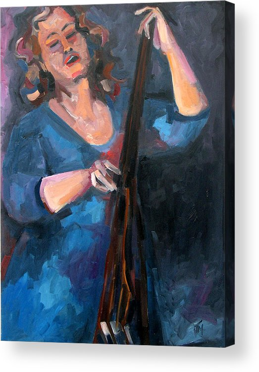 Blues Musician Acrylic Print featuring the painting Andrafaye by Jackie Merritt