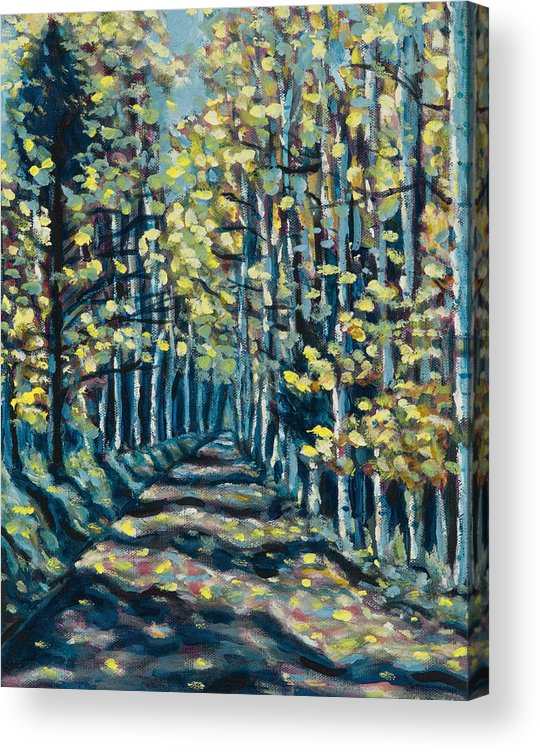 Landscape Acrylic Print featuring the painting Aspen Path by Steve Lawton