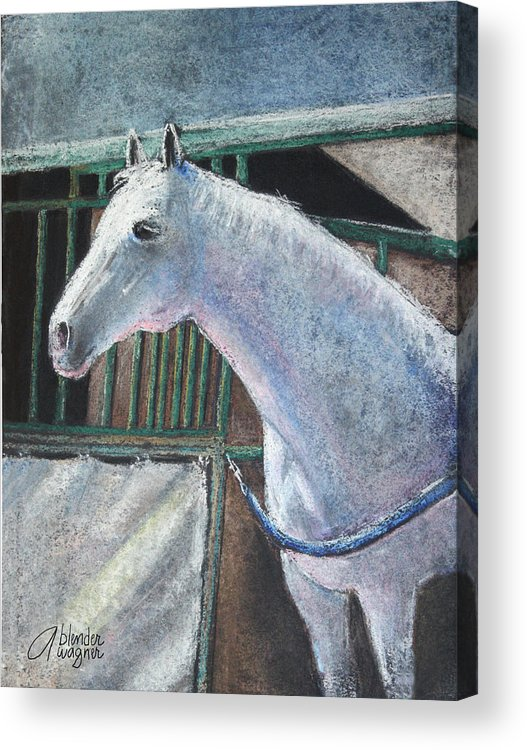 Horse Acrylic Print featuring the pastel Beauty by Arline Wagner