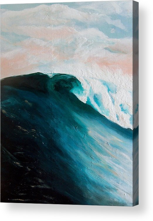 Wave Acrylic Print featuring the painting Big Wave by Racquel Morgan