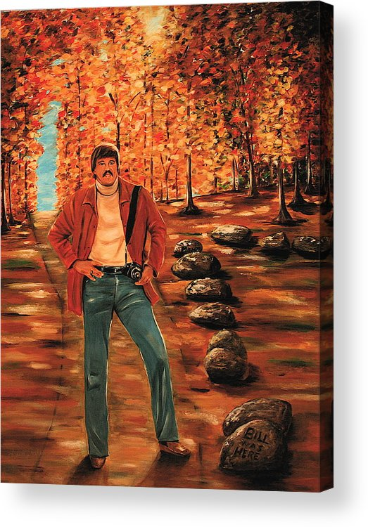 Portrait Acrylic Print featuring the painting Bill Bachmann Path Of A Photographer by Dyanne Parker