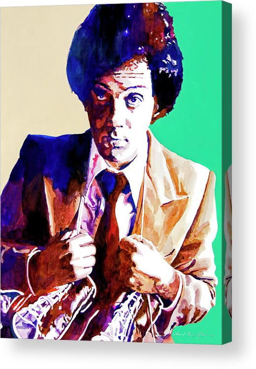 Billy Joel Acrylic Print featuring the painting Billy Joel - New York State Of Mind by David Lloyd Glover