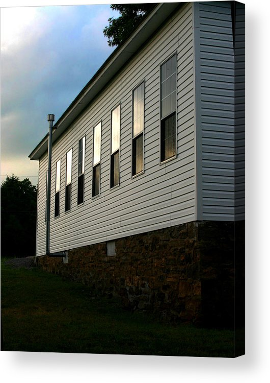 Church Acrylic Print featuring the photograph Blackburn Church Sunset by Curtis J Neeley Jr