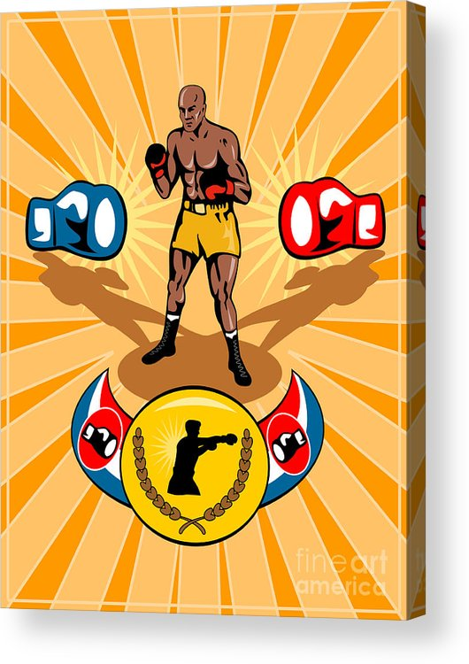 Boxer Acrylic Print featuring the digital art Boxer Boxing Poster by Aloysius Patrimonio