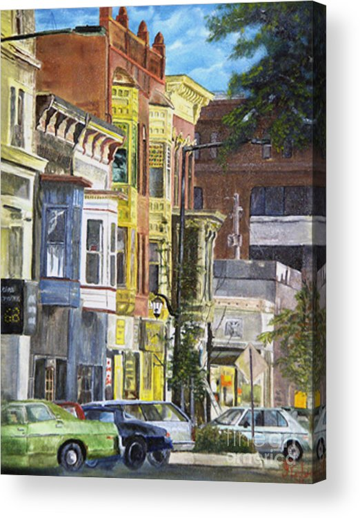 Cityscape Acrylic Print featuring the painting Broad Street by CJ Rider