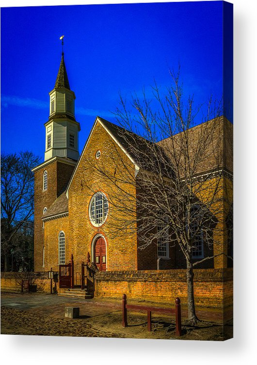 Bruton Church Acrylic Print featuring the photograph Bruton Parish Church by Harry Meares Jr