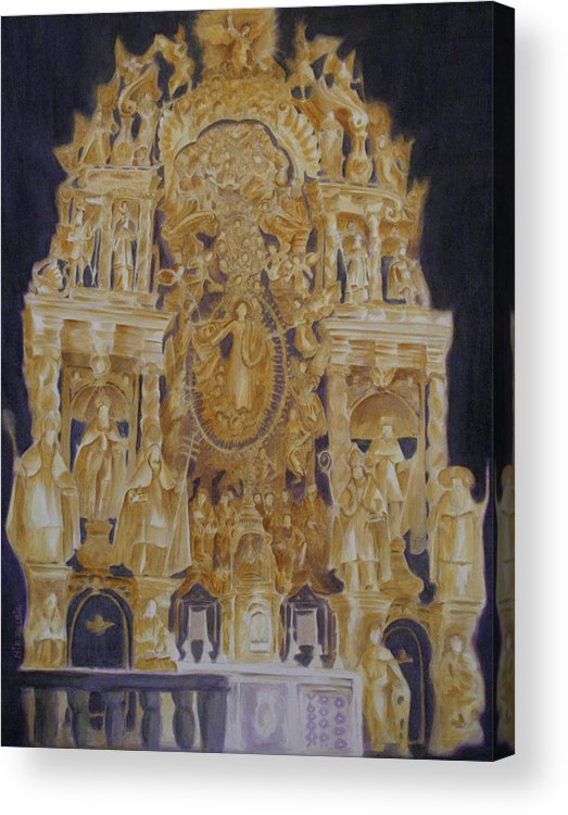 Saints Acrylic Print featuring the painting Builders' Guild by Nik Helbig