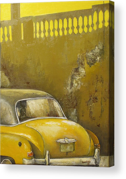 Havana Acrylic Print featuring the painting Buscando La Sombra by Tomas Castano
