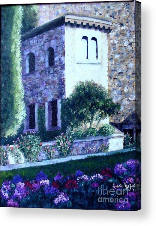 Italy Acrylic Print featuring the painting Castle Sestri Levante by Laurie Morgan