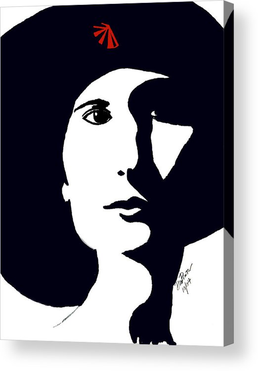 Chic Acrylic Print featuring the drawing Chic by Donna Proctor
