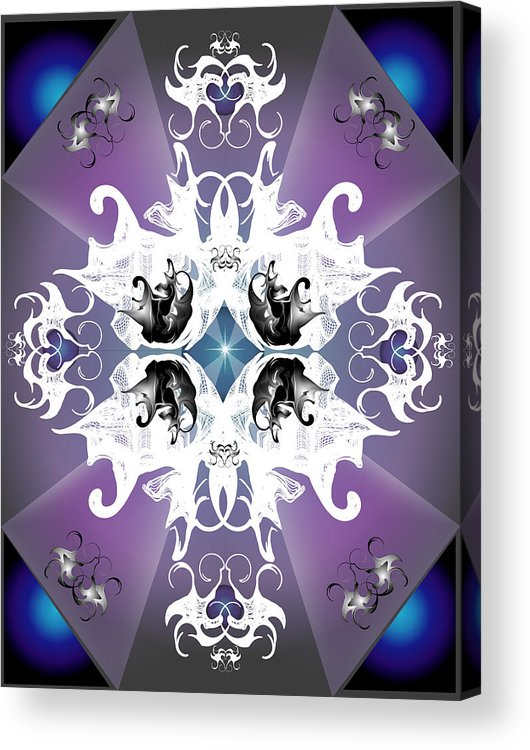 Fantasy Acrylic Print featuring the digital art Coat Of Arms by George Pasini