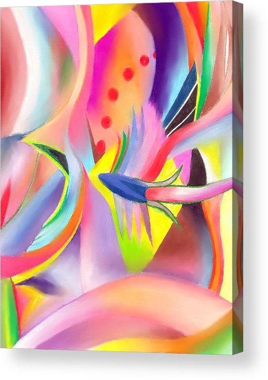 Colorful Acrylic Print featuring the drawing Colorful Sea by Peter Shor