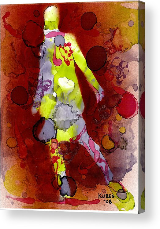 Woman Girl Female Impressionist Empowerment Acrylic Print featuring the mixed media Coming Of Age by Susan Kubes