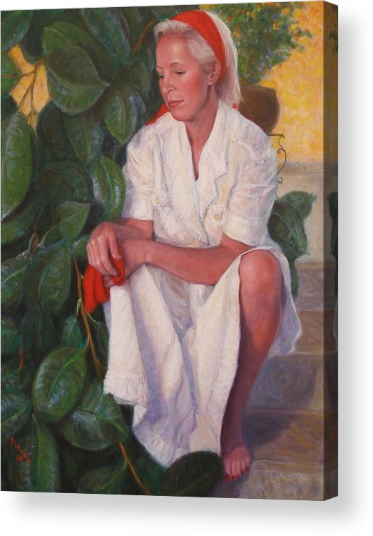 Realism Acrylic Print featuring the painting Contemplation by Donelli DiMaria