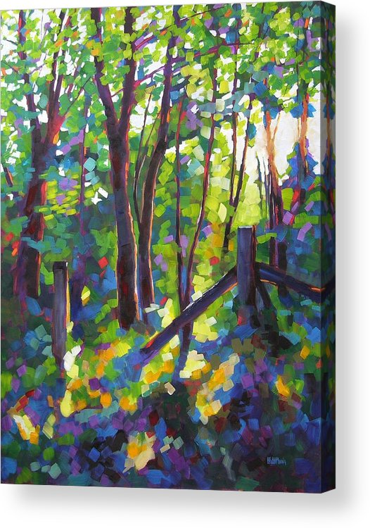 Trees Acrylic Print featuring the painting Corner Post by Mary McInnis