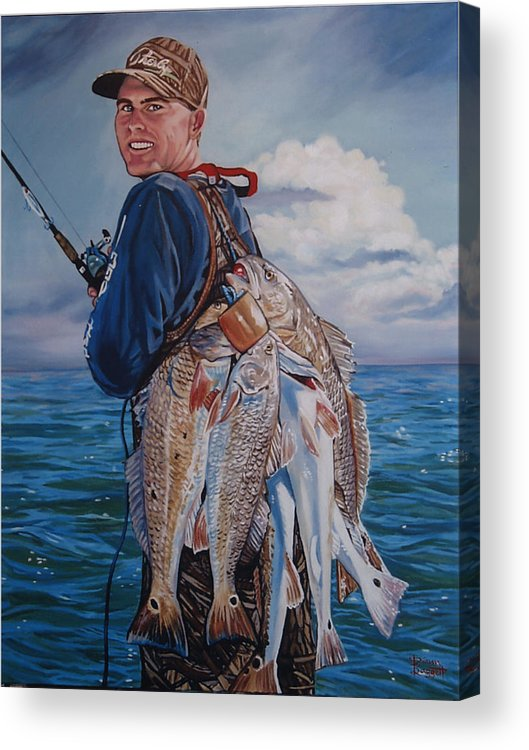 Portrait Acrylic Print featuring the painting Cory by Diann Baggett