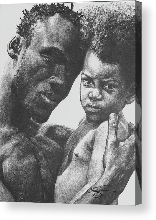 Dads Acrylic Print featuring the drawing Daddy's Home by Curtis James
