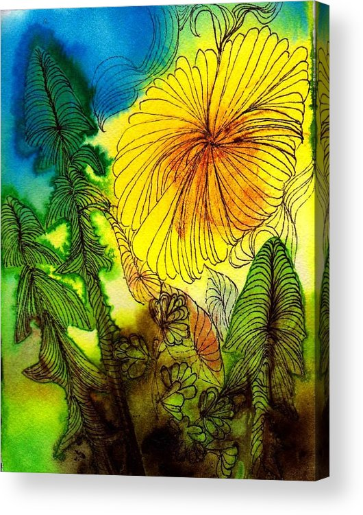 Flowers Acrylic Print featuring the painting Dandelion by Anne Duke