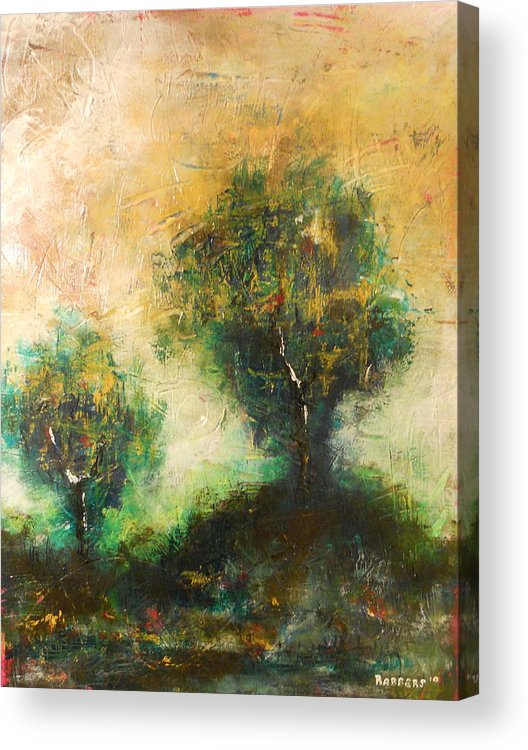 Tres Acrylic Print featuring the painting Dawns Dew 2 by Eric Rabbers