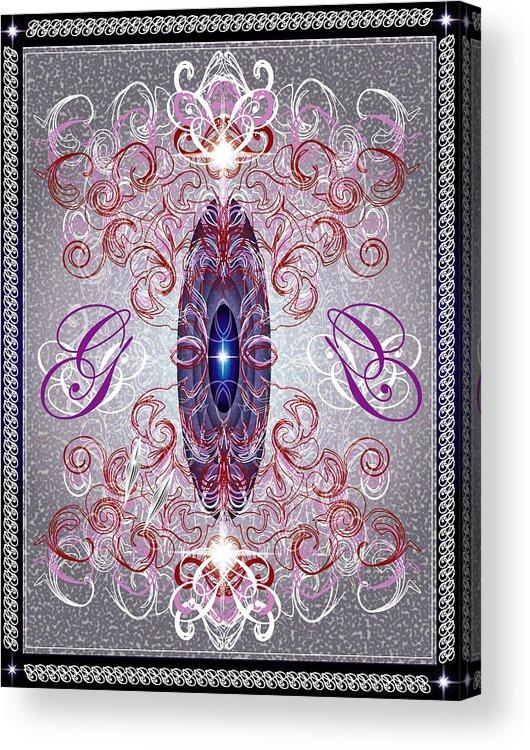 Decor Acrylic Print featuring the digital art Decorative No8 by George Pasini