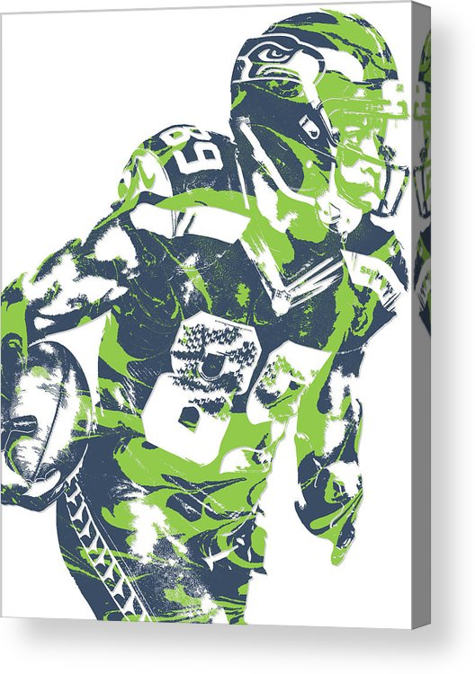 best sneakers 46800 e0ec1 Doug Baldwin Seattle Seahawks Pixel Art 6 Acrylic Print