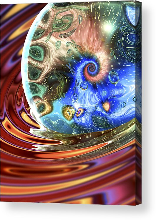 Essence Acrylic Print featuring the digital art Esscence Of Life by Sandy Ostroff