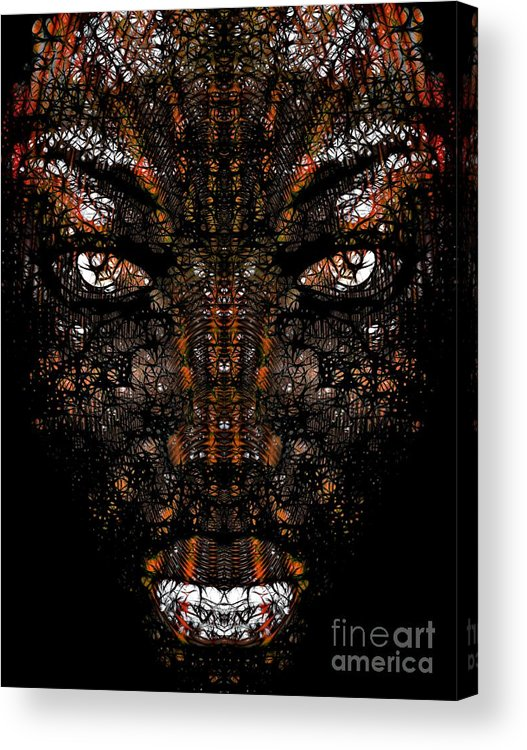 Abstract Face Acrylic Print featuring the digital art Essence Of A Woman 1 by Devalyn Marshall