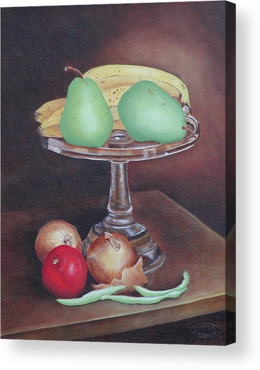 Still Life Acrylic Print featuring the painting Essentials by Sharon Steinhaus