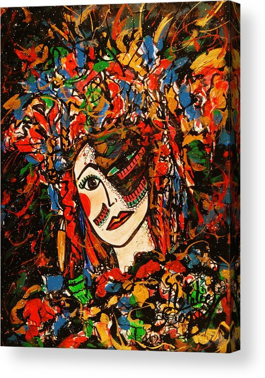 Extravagant Acrylic Print featuring the painting Extravagant Beauty by Natalie Holland
