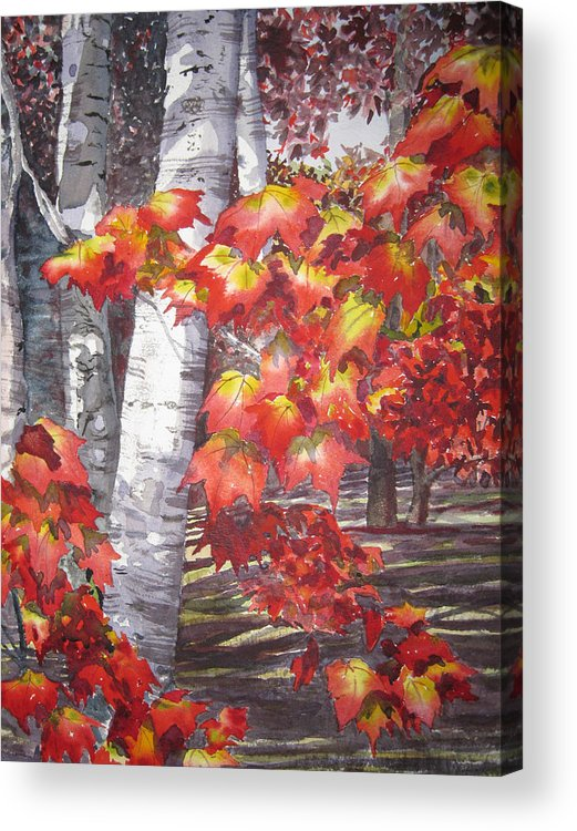 Landscape Acrylic Print featuring the painting Fall Fantasy by Shirley Braithwaite Hunt
