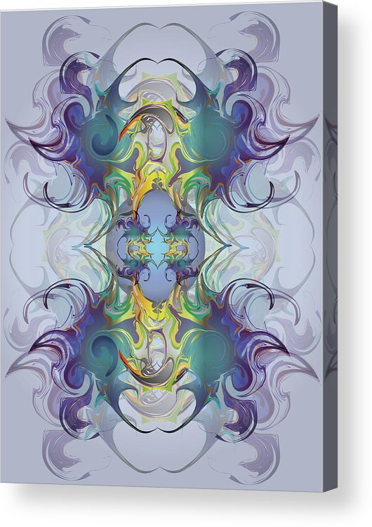 Fantasy Acrylic Print featuring the digital art Fantasy V by George Pasini
