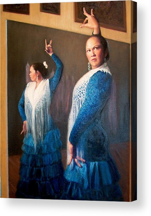 Realism Acrylic Print featuring the painting Flamenco 3 by Donelli DiMaria