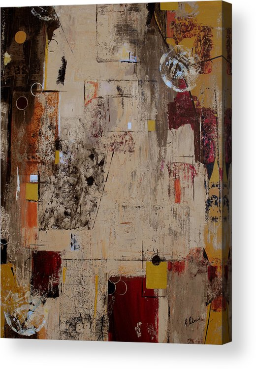 Abstract Acrylic Print featuring the painting Fractions by Ruth Palmer