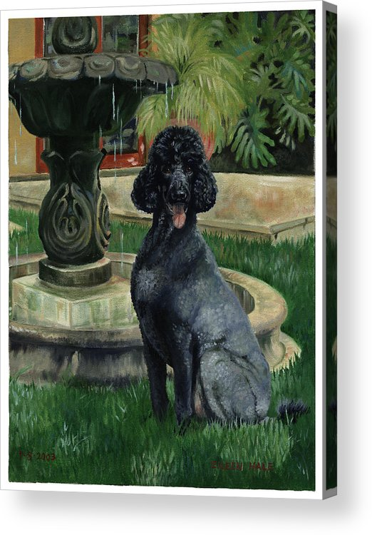 Portrait Acrylic Print featuring the painting Frankie by Eileen Hale