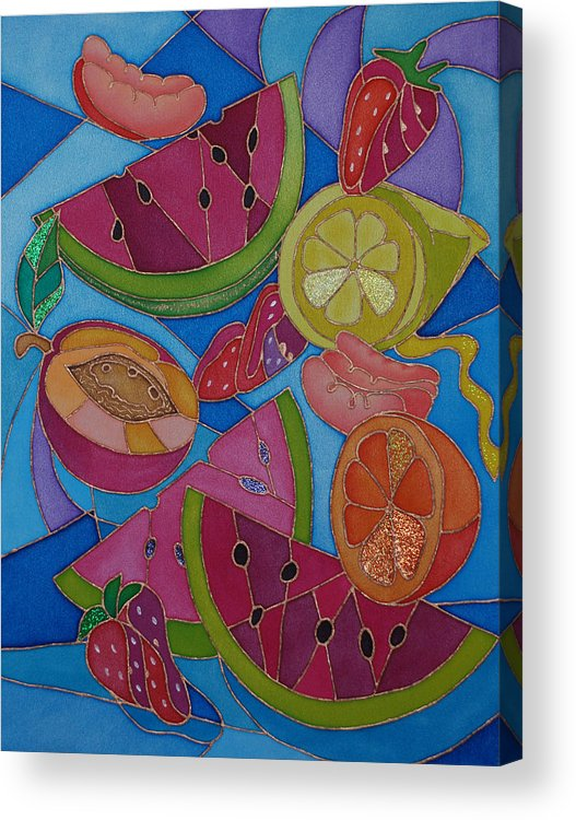 Still Life Acrylic Print featuring the painting Fruit Mix by Tatiana Antsiferova