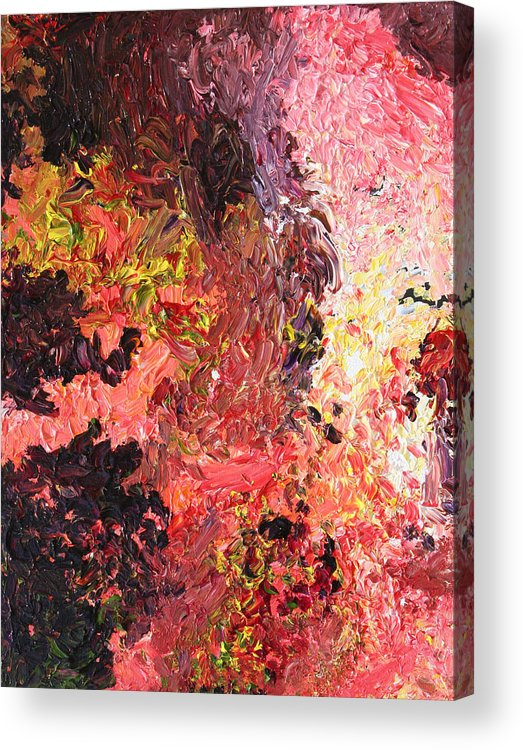 Fusionart Acrylic Print featuring the painting Ganesh In The Garden by Ralph White