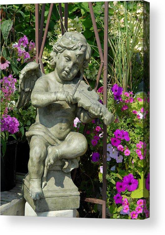 Garden Ornament Acrylic Print featuring the photograph Garden 27 by Joyce StJames