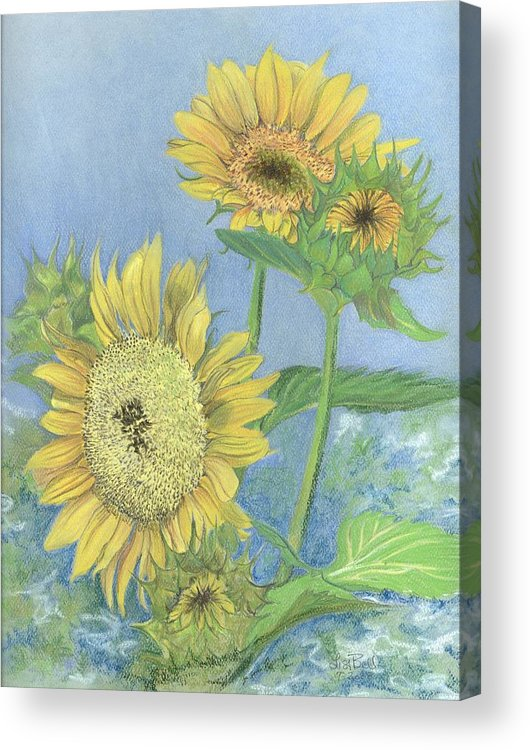 Florals Acrylic Print featuring the painting Garden Beauties by Lisa Bell
