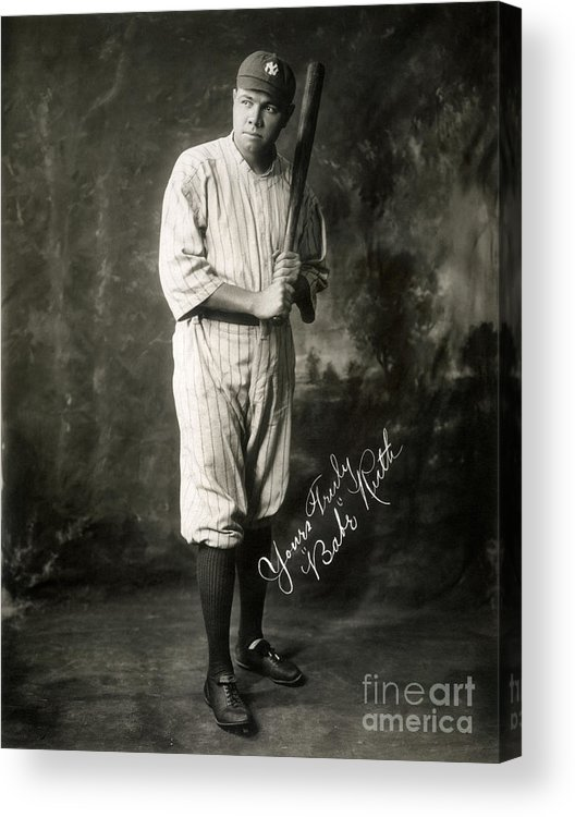 1920 Acrylic Print featuring the photograph George H. Ruth (1895-1948) by Granger