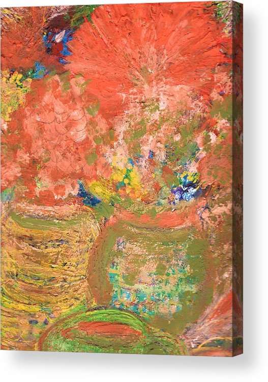 Flores Acrylic Print featuring the mixed media Good Morning El Mundo by Anne-Elizabeth Whiteway