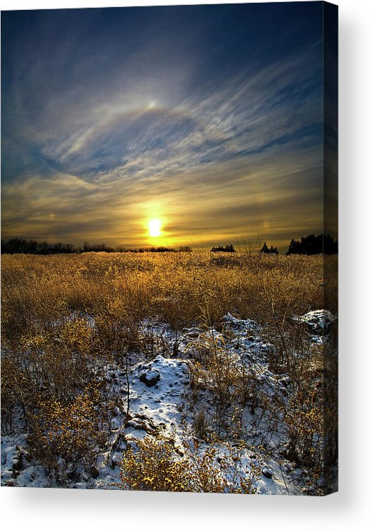 Horizons Acrylic Print featuring the photograph Halo by Phil Koch