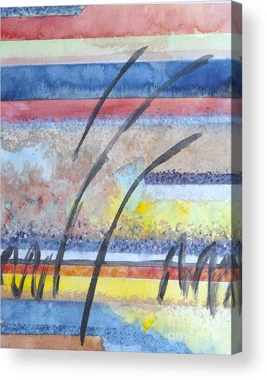 Abstract Acrylic Print featuring the painting Heartbeat by Jacqueline Athmann